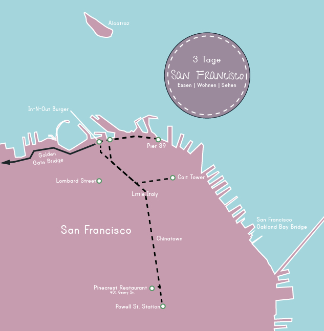 3 Tage San Francisco, Tag 1 Highlights und Route, www.diefernwehfamilie.de