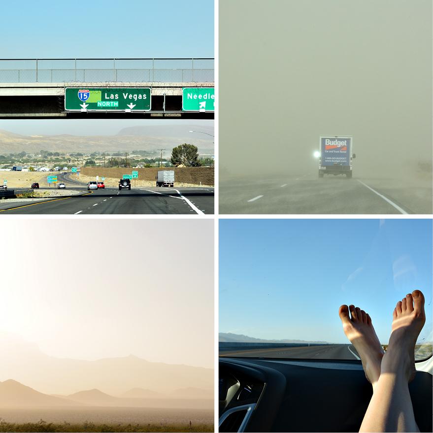 Auf dem Weg nach Las Vegas von San Diego....Sandstürme und Langeweile, DieFernwehFamilie