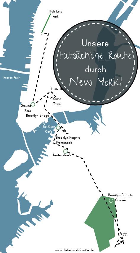 unsere tatsächliche Route durch New York-www.diefernwehfamilie.de