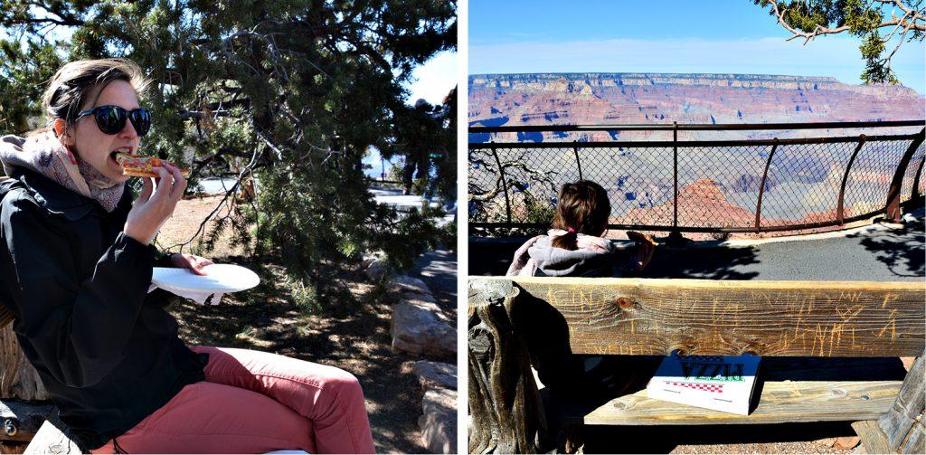 Erster Eindruck vom Grand Canyon_erst mal ne Pizza! DieFernwehFamilie