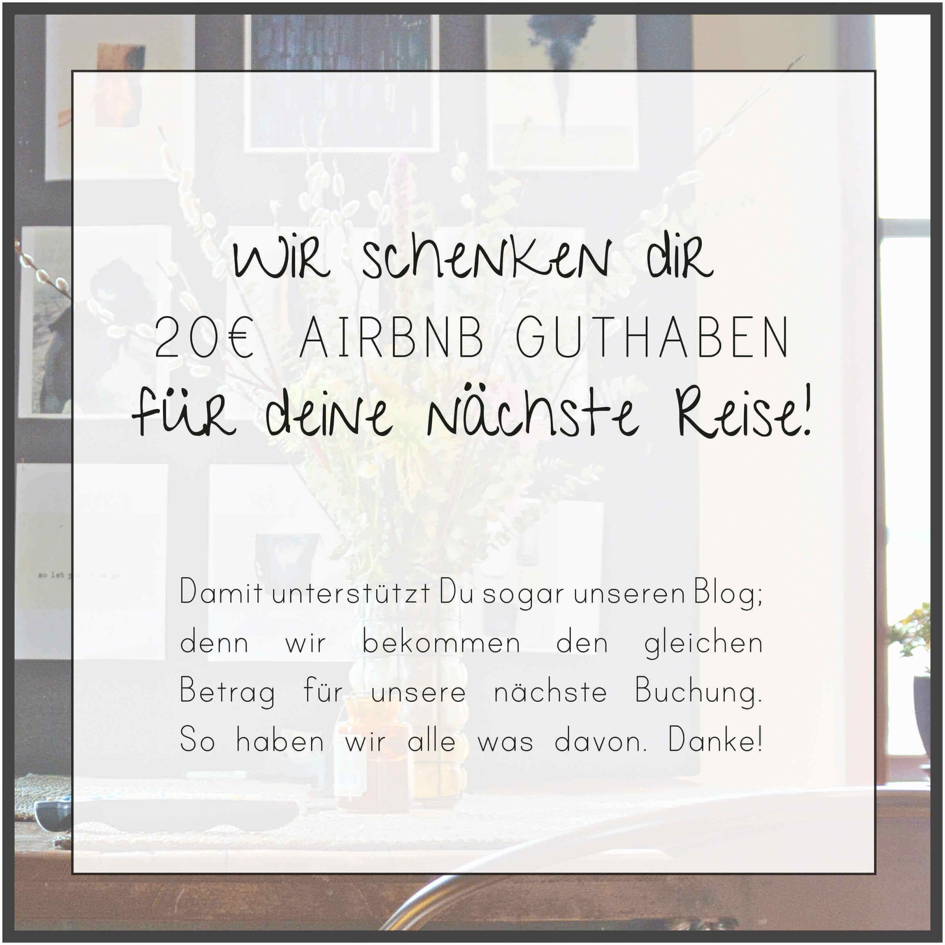 airbnb 20 Euro Gutschein